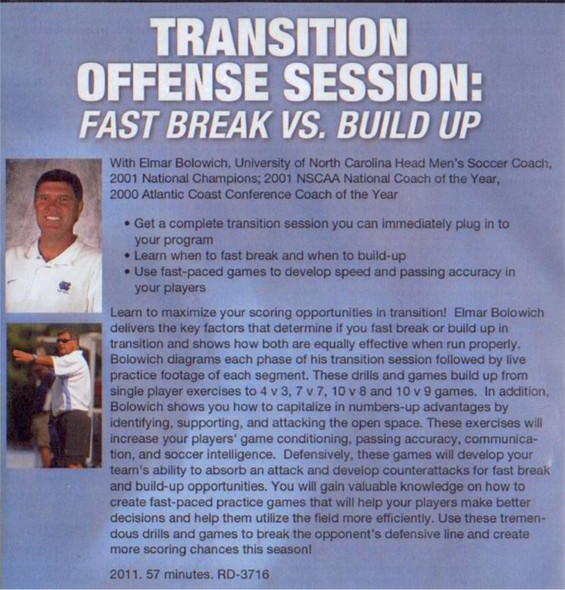 (Rental)-Transition Offense Session: Fast Break vs Build Up