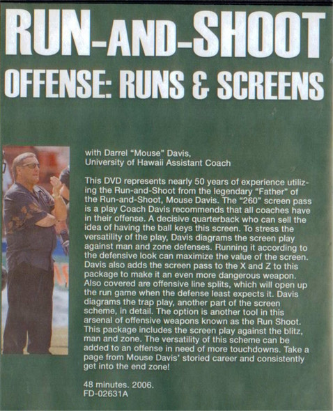 (Rental)-RUN & SHOOT OFFENSE: RUNS AND SCREENS