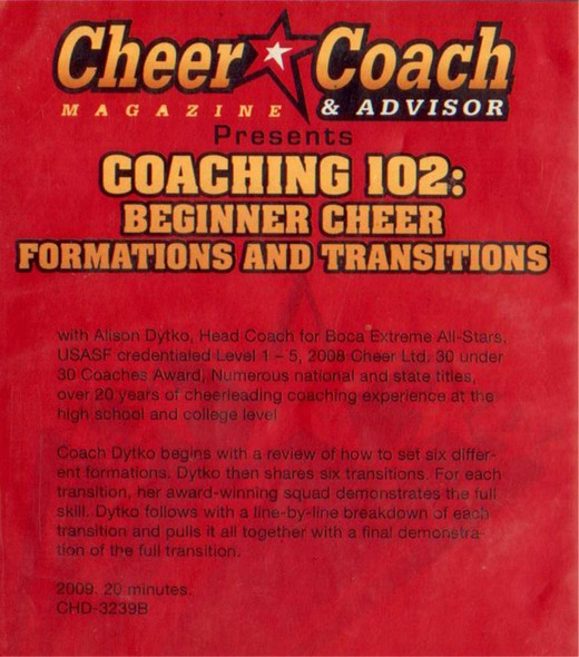 (Rental)-Cheer  Coach Magazine: Coaching 102: Beginner Formations