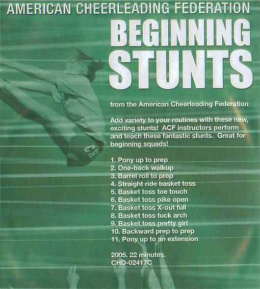 (Rental)-American Cheerleading Foundation: Beginning Stunts