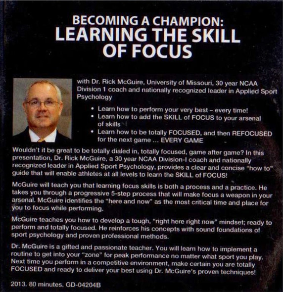 (Rental)-Becoming A Champion Athlete: Learning The Skill Of Focus