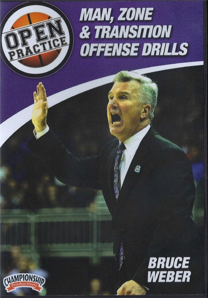 Man, Zone, & Transition Offense Drills by Bruce Weber Instructional Basketball Coaching Video