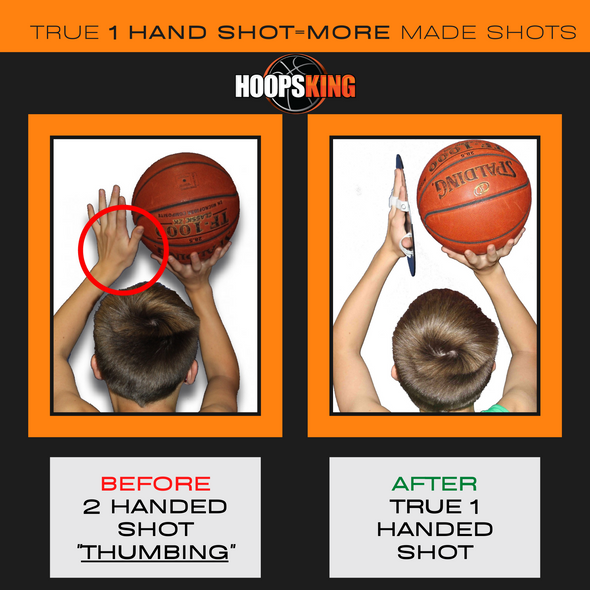 Fix Off hand intereference basketball shooting aid smooth shooter