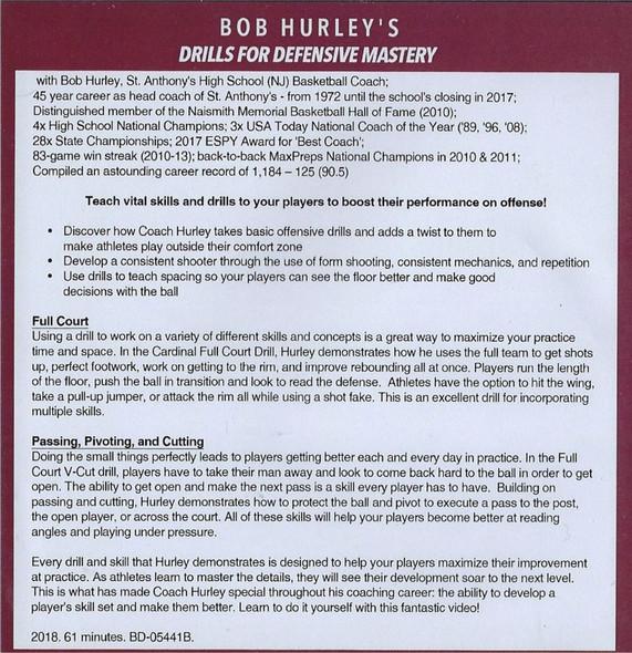 Bob Hurley Defense Drills for Basketball DVD