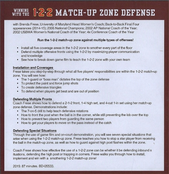 (Rental)-Winning with the 1-2-2 Match Up Zone Defense