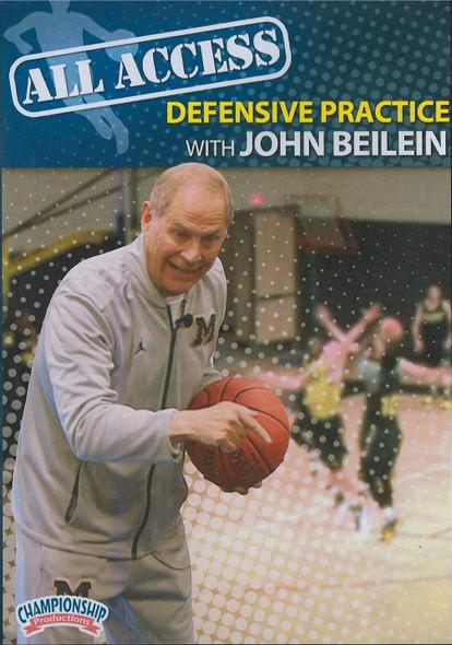 All Access Basketball Defensive Practice John Beilein by John Beilein Instructional Basketball Coaching Video