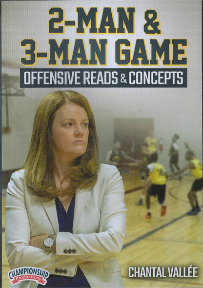 2 Man & 3 Man Game Offensive Reads & Concepts for Basketball by Chantal Vallee Instructional Basketball Coaching Video