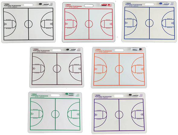 18 X 24 basketball coaching board with handle colors