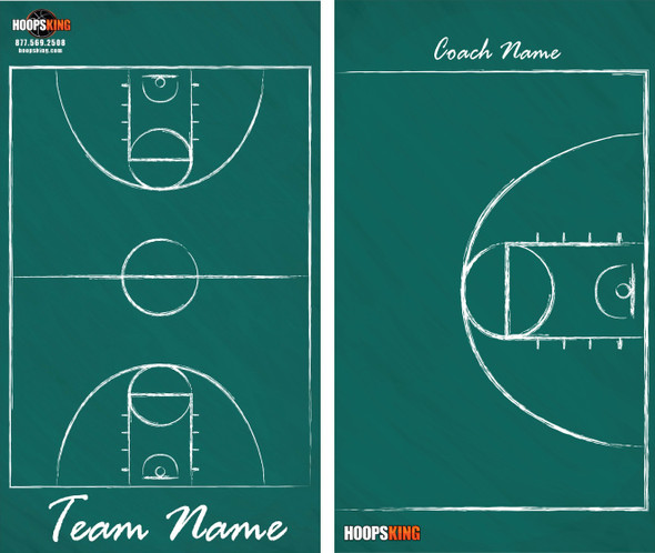 green chalkdboard dry erase basketball coaching board
