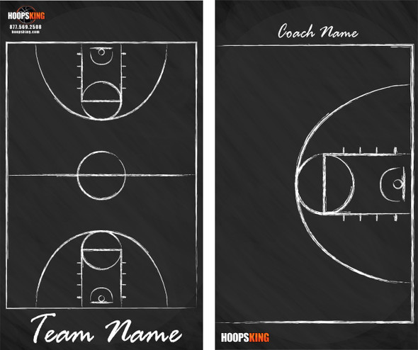 Chalkboard Dry Erase Basketball Coaching Board