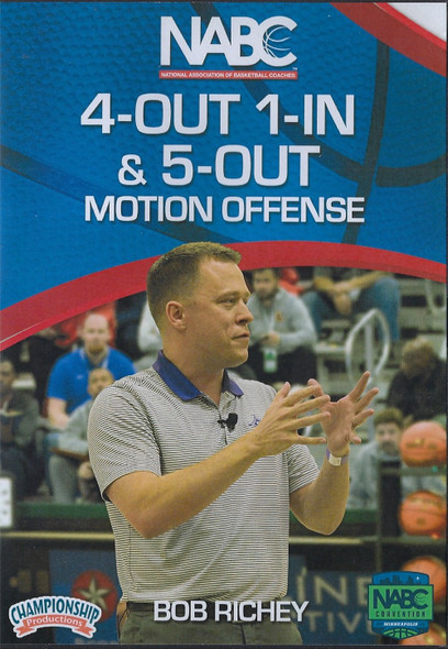 4 Out 1 in & 5 Out Motion Offense by Bob Richey Instructional Basketball Coaching Video