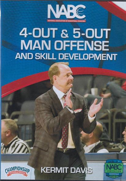 4 Out & 5 Out Man Offense & Skill Development by Kermit Davis Instructional Basketball Coaching Video