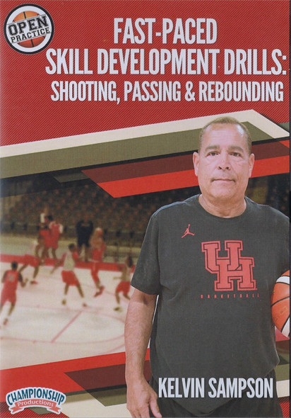 Fast Paced Basketball Skill Development Drills: Shooting, Passing, &Rebounding by Kelvin Sampson Instructional Basketball Coaching Video