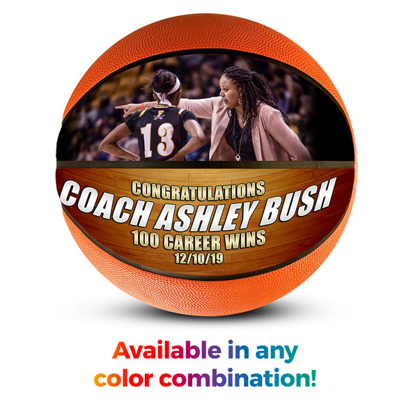 Custom Basketball Photo Ball Coach great gift