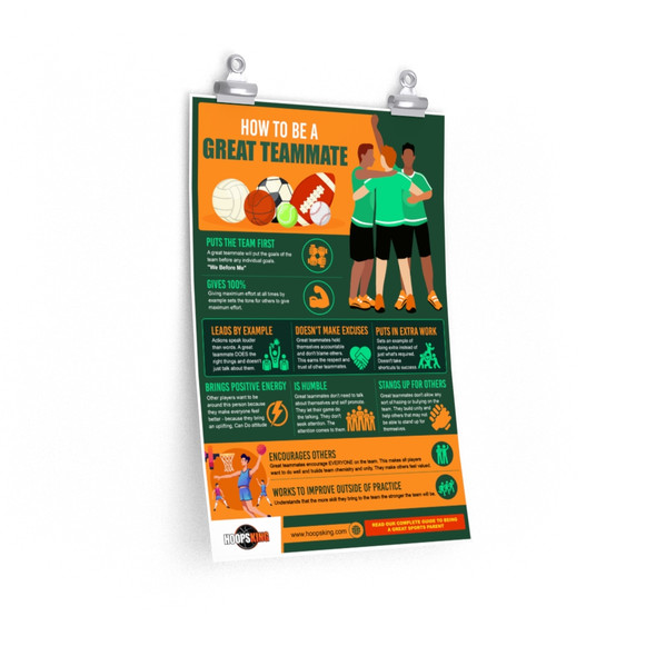 How to Be a Great Teammate Premium Matte vertical poster
