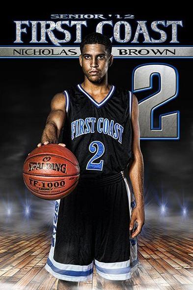 Custom sports banner for basketball senior