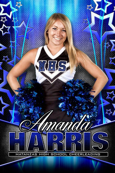Custom sports banner for cheer senior