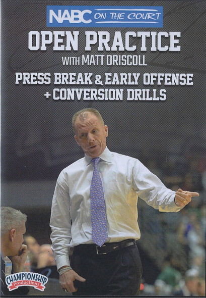 Press Break & Early Offense, & Conversion Drills by Matt Driscoll Instructional Basketball Coaching Video