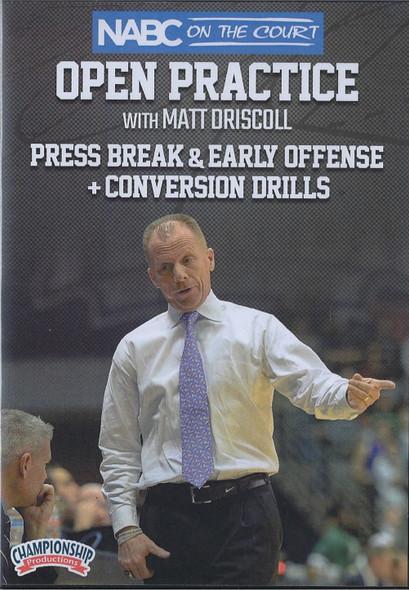 Press Break & Early Offense, & Conversion Drills by Matt Driscoll Instructional Basketball Coaching Video