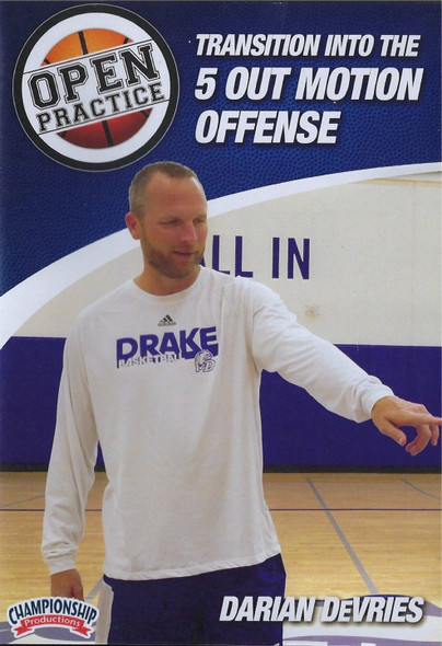 Transition Offense Into the 5 Out Motion Offense by Darren Devries Instructional Basketball Coaching Video