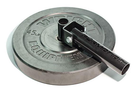 Standard bumper plate landmine attachment
