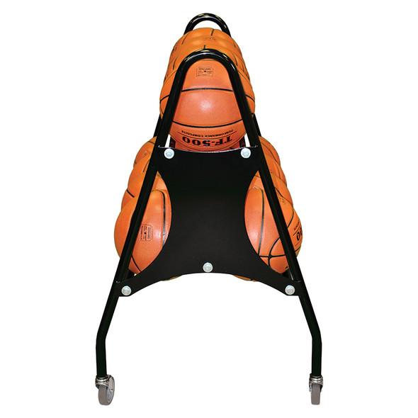 Custom basketball cart or rack with team logo