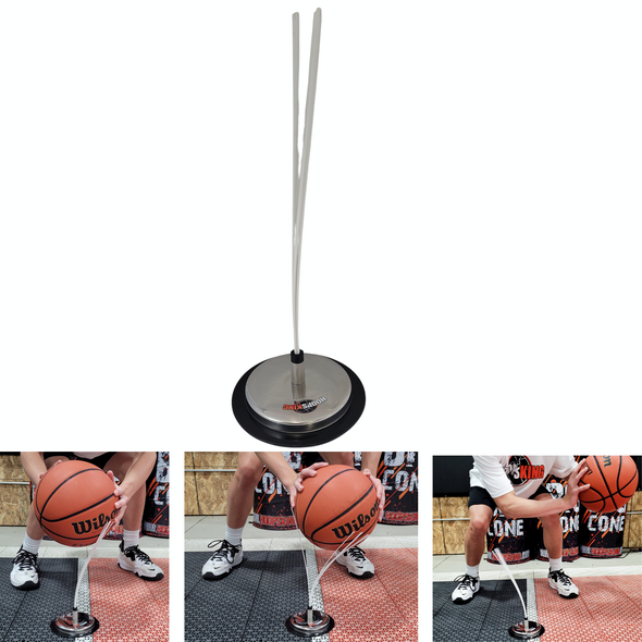 Basketball Rip Quick Stick for learning to play low and sweep the ball below the knees