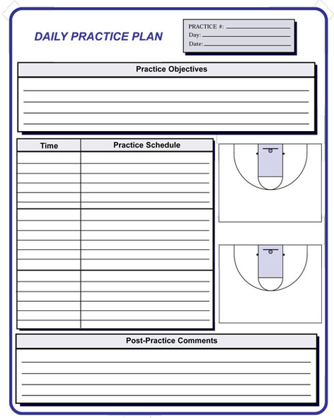 Basketball coaching forms
