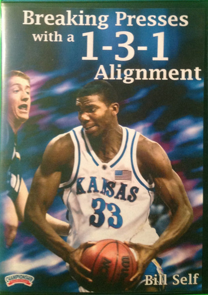 Breaking Presses With A 1--3--1 Alignment by Bill Self Instructional Basketball Coaching Video