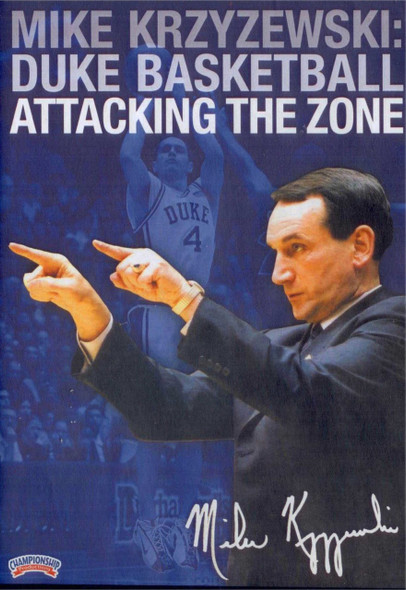 Duke Basketball Attacking The Zone by Mike Krzyzewski Instructional Basketball Coaching Video