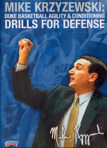 Coach K: Agility For Defense by Mike Krzyzewski Instructional Basketball Coaching Video