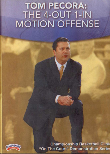Pecora: The 4--out 1--in Motion Offense by Tom Pecora Instructional Basketball Coaching Video