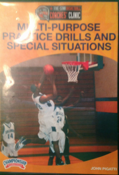 Multipurpose Practice Drills And Special Situations by John Pigatti Instructional Basketball Coaching Video