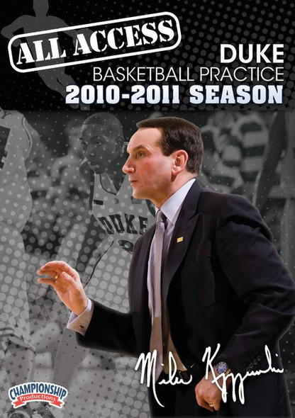 All Access Duke Basketball Practice (2010-11) by Mike Krzyzewski Instructional Basketball Coaching Video