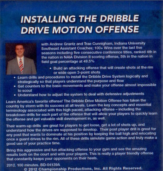 Dribble drive motion offense install video