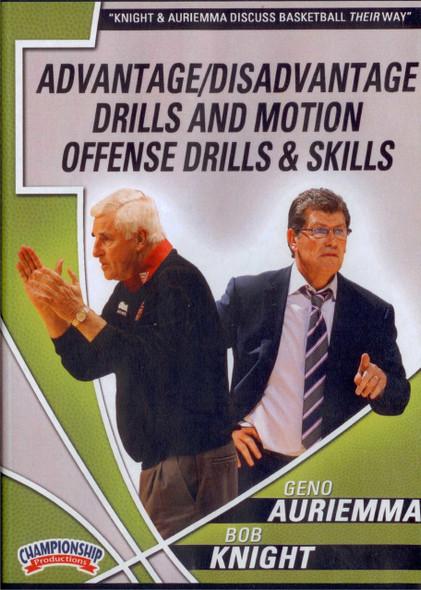 Auriemma & Knight:motion Offense Skills & Drills by Geno Auriemma Instructional Basketball Coaching Video