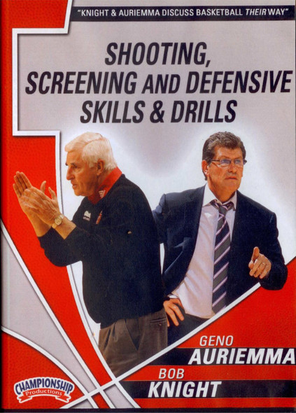 Auriemma & Knight: Shooting, Screening, Defensive Drills by Geno Auriemma Instructional Basketball Coaching Video