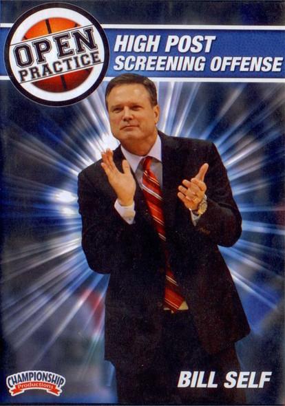 Bill Self Open Practice: High Post Screening Offense by Bill Self Instructional Basketball Coaching Video