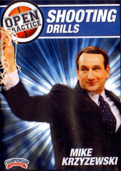 Mike Krzyzewski Open Practice: Shooting Drills by Mike Krzyzewski Instructional Basketball Coaching Video