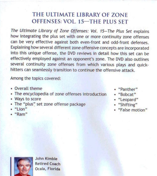 (Rental)-Zone Offense: The Plus Set