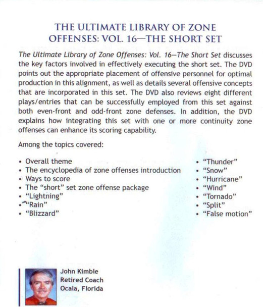 (Rental)-Zone Offense: The Short Set