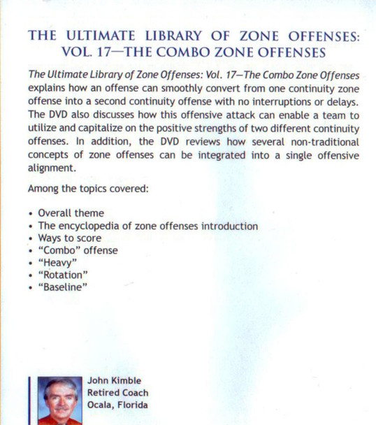 (Rental)-Combo Zone Offenses For Basketball