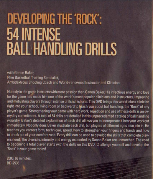 """(Rental)-Developing The """"rock"""" In Your Game: 54 Intense"""