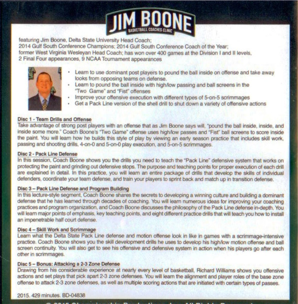 Jim Boone basketball video tips