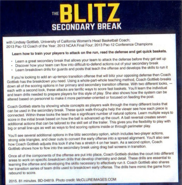 Blitz Secondary Break Basketball
