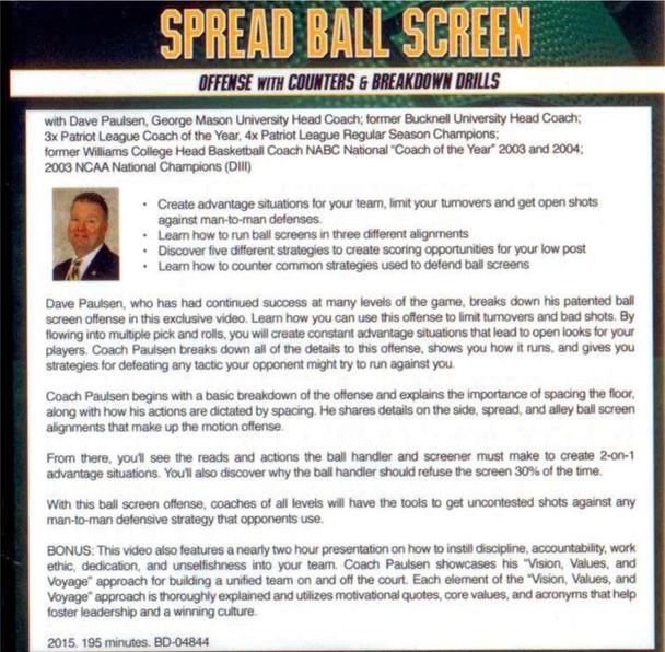 (Rental)-Spread Ball Screen Offense