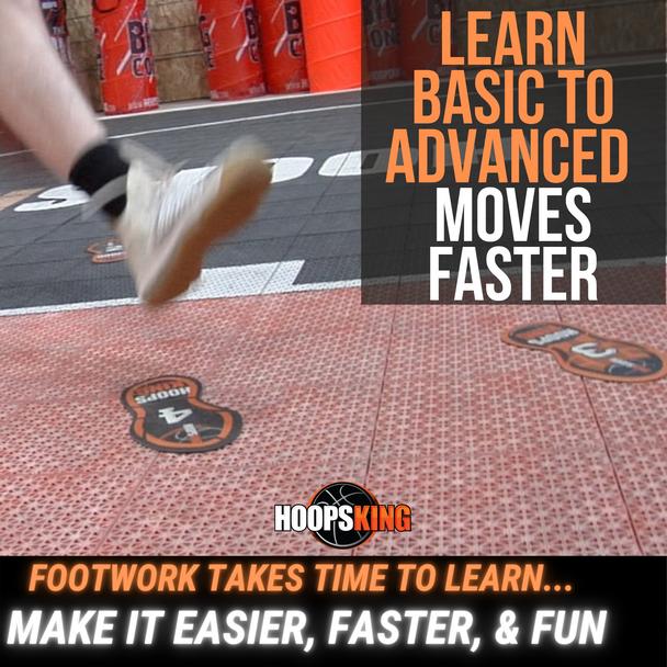 basketball footwork mat steps feet