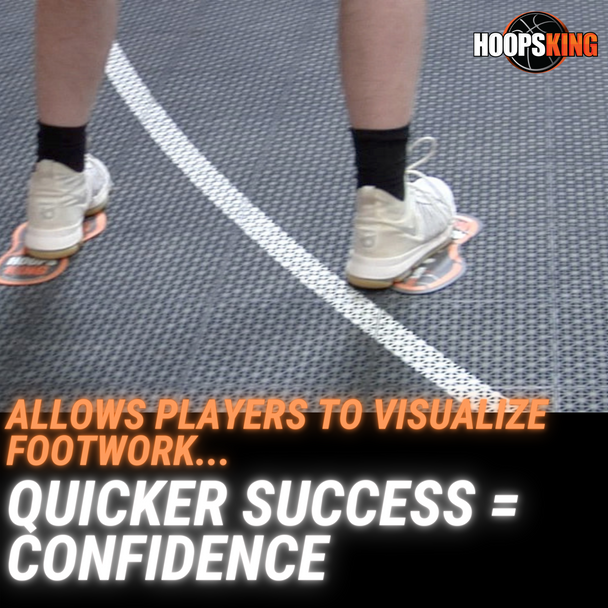 basketball footwork mat to learn new moves