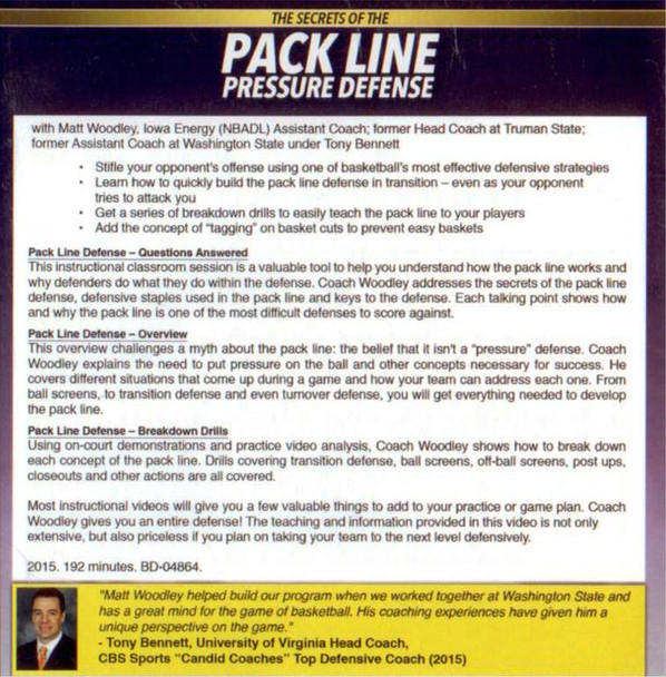 (Rental)-Secrets Of The Pack Line Pressure Defense