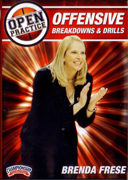 Open Practice: Offensive Breakdowns & Drills by Brenda Frese Instructional Basketball Coaching Video